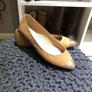 Old Navy Camel Gold Toe Flats